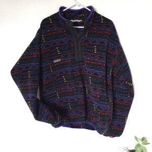 VTG Columbia synchilla style Aztec fleece rare
